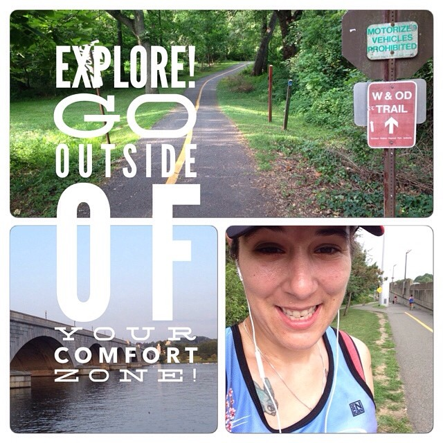 Get outside of your comfort zone! I took the road less travelled (by me) on my long run today! #rundc #runchat #werundc #run #workhardsweatharder