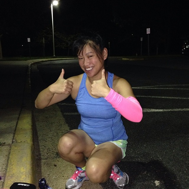 Somehow managed to convince  to show up at 5:30am and run the first 4 of my long run today. Wooooooooo!!!